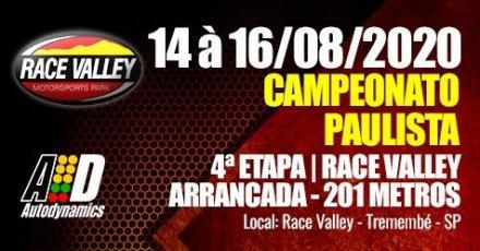 Campeonato Paulista de Arrancada 2020 - 4ª Etapa - 14/08/2020 a 16/08/2020 - Race Valley - Tremembé - SP - 201 Metros